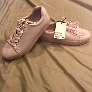 H&M Baby Pink Suede Pink Sneakers